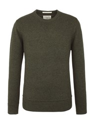 Racing Green Watt Crew Neck Knit Dark Green