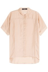 Steffen Schraut Highline Relaxed Silk Shirt Beige