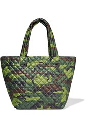 M Z Wallace Metro Medium Camouflage Print Shell Tote Army Green