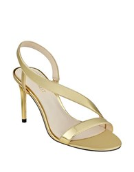 Nine West Rhyan Leather Dress Sandals Gold