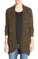 Junior Women's Bp. Cable Front Marled Cardigan