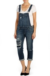 Women's Paige Denim 'Sierra' Distressed Crop Overalls William