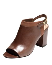 Jena Leather Slingback Bootie Harvest Brown Cole Haan