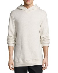 Helmut Lang Textured Pullover Hoodie Light Heather Gray Light Gray