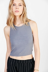 Silence And Noise Silence Noise Mini Ribbed Tank Top Grey