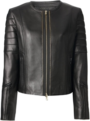 Drome Leather Biker Jacket Black