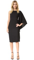 Cushnie Et Ochs Side Ruffle Asymmetrical Dress Black