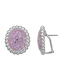 Slane Nuage Pav Pink Sapphire Large Button Earrings