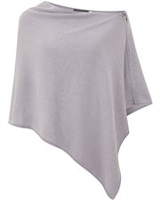Mint Velvet Lilac Zip Knit Poncho Purple