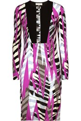 Emilio Pucci Printed Jersey Dress Magenta
