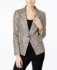 Vakko For Inc International Concepts Faux Suede Leopard Print Blazer Only At Macy's