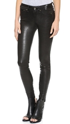 Rag And Bone The Leather Skinny Pants Washed Black