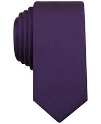 Bar Iii Carnaby Collection Sable Solid Tie Plum