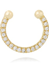 Ileana Makri Thread 18 Karat Gold Diamond Nose Ring