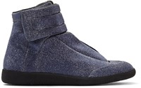 Maison Martin Margiela Blue Glitter Future High Top Sneakers