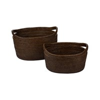 Baolgi Vienna Baskets Set Of 2 Teak
