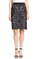 Women's Nic Zoe 'Layered Lace' Pencil Skirt