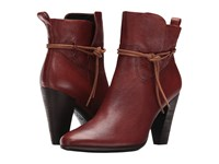 Ecco Shape 75 Ankle Boot Cognac Cow Leather Women's Boots Mahogany