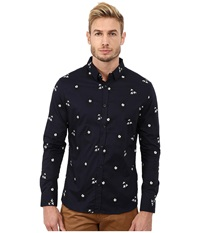 7 Diamonds Wild Flower Top Navy Men's Long Sleeve Button Up