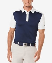 Callaway Men's Athletic Colorblocked Golf Polo Peacoat