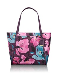 Tumi Patterned Voyager Q Tote Peony Flower