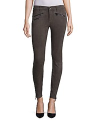 Rag And Bone Ankle Length Slim Fit Pants Charcoal Suede
