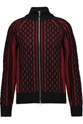 Alexander Wang T By Cable Knit Cardigan Red