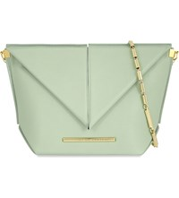 Roland Mouret Classico Origami Leather Cross Body Bag Light Mint