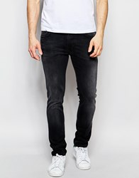 Nudie Jeans Thin Finn Slim Fit Black Brutus Washed Out Black