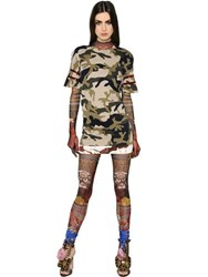Dsquared Camo Printed Cotton Jersey Dress