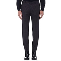 Paul Smith Men's Soho Gingham Wool Trousers No Color