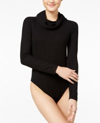 Polly And Esther Juniors' Rib Knit Cowl Neck Bodysuit Black
