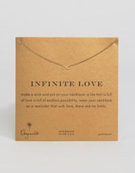 Dogeared Infinity Love Necklace Gold