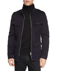 Tom Ford Quilted Safari Zipper Jacket Navy