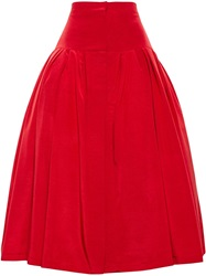 Natasha Zinko Full Twill Skirt Red