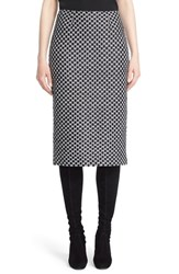 St. John Women's Collection Chain Knit Pencil Skirt