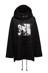 Fenty Puma By Rihanna Long Sleeve Graphic Front Lacing Hoodie Black