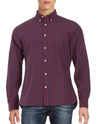 Brooks Brothers Checked Sport Shirt Navy