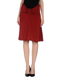 Just Cavalli Skirts Knee Length Skirts Women Brick Red