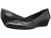 Easy Spirit Daneri Black Black Leather Women's Shoes