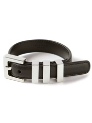Saint Laurent Buckle Bracelet Black
