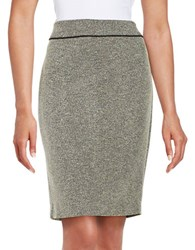 Nipon Boutique Tweed A Line Skirt Cream
