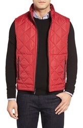 Bugatchi Men's Uomo Hooded Quilted Vest Ruby