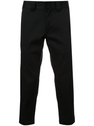 Bedwin And The Heartbreakers Slim Fit Cropped Trousers Black