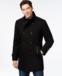 Inc International Concepts Faux Leather Pieced Peacoat Only At Macy's