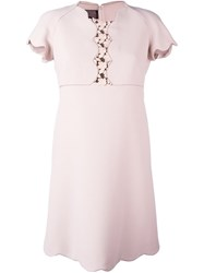 Giambattista Valli Floral Lace Detail Dress Pink And Purple