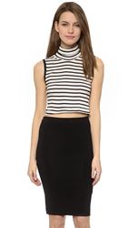 Edith A. Miller Sleeveless Turtleneck Crop Top