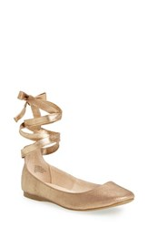 Steve Madden Women's 'Bloome' Wraparound Tie Flat Dusty Gold