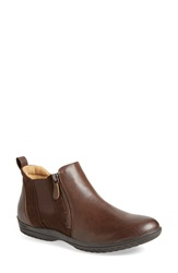 Softspots 'Bobbie' Chelsea Bootie Women Chocolate Coffee Leather