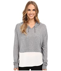 The Beginning Of Emma Shirt Tail Hoodie Heather Grey Women's Sweatshirt Gray